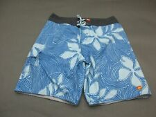Quiksilver Size 34 Mens Blue Floral Swim Trunks Board Shorts 749
