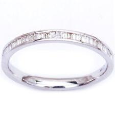 .25ct Channel Set 14kt White Gold E-VS Baguette Diamond Wedding Anniversary Band