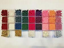 Wachsperlen Auswahl 3-6-8mm Oliven Farbwahl Perlen Perlensterne Drahtsterne Star