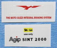 MOTO GUZZI LEMANS 1/2/3/1000SP/T3 FUEL TANK DECALS-ENGL