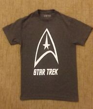 Star Trek Logo Symbol Dark Gray Tee Shirt by Hybrid Official Licensed *FREE SHIP