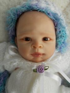 """Handsculpted 14"""" OOAK POLYMER CLAY REBORN Baby Doll by MICHELLE FAGAN Sculpture"""
