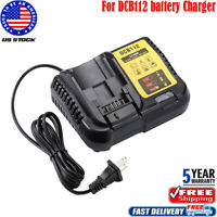 FOR Dewalt 12 Volt & 20 Volt Max Lithium Battery Charger Model DCB112 12V - 20V