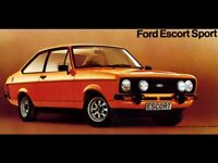 FORD ESCORT RS1600 SPORT RETRO POSTER PRINT CLASSIC 70's ADVERT A3