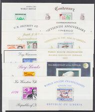 Liberia Sc C124a/C172 MNH. 1959-66 issues, 12 different Air Mail souvenir sheets