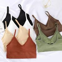 Women's Sexy Seamless Gym Yoga Sports Bra Crop Top Vest Comfort Stretch Bralette