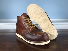 Red Wing Heritage Classic Moc Toe 6-inch Boot Brown Leather 875 Size 8