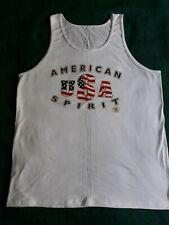 New listing American Spirit Men's Tank Top Size L Sleeveless Tee Shirt Usa Flag Large White