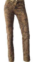 $798 Polo Ralph Lauren Womens Brown Gold Paisley RL67 Slim Skinny Corduroy Pants