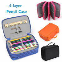 72 Slots Large Pencil Storage Case Makeup Cosmetic Bag Stationery Pouch Holder