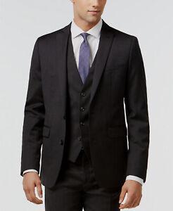 $450 Bar III Men's 38R Gray Extra Slim Fit Wool Sport Coat Suit Jacket Blazer