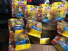 Lot Of 16 On Card Unopened Simpsons World of Springfield Playmates Interactive