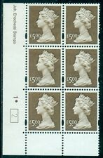 Great Britain Sg-Y1803, Scott # Mh-283 Cyl. Blk/6, Mint, Og, Nh, Great Price!