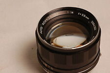 MINOLTA 58mm f1.4 AUTO ROKKOR PF Lens manual focus very nice #41226
