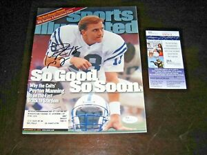 Peyton Manning signed Indianapolis Colts Sports Illustrated Magazine JSA SI