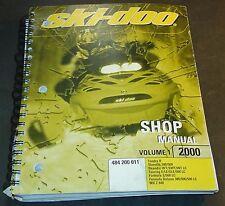 New listing 2000 SKI-DOO SHOP SERVICE MANUAL VOL 1 TOURING,FORMULA, MX Z 440, SKANDIC (566)
