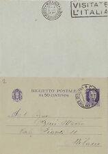 CARTOLINA POSTALE CENTESIMI 50 CASIMA REGGIO EMILIA LUGLIO 1941 C3-2