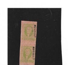 MEXICO 1861 JUAREZ SCOTT # 12 MINT PAIR,ORIGINAL GUM WITH CERTIFICATE .