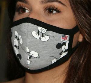 Made in USA 600 Mickey Mouse Disney Face mask REUSABLE 100% cotton