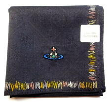 Vivienne Westwood - Handkerchief scarf bandana Cotton Men Gray ORB Auth New