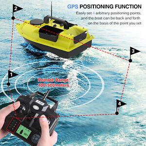 500m RC Wireless Futterboot mit GPS Köderboot Baitboat Fischerköder Boot2kg X6Z5