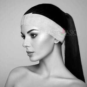 100 Pcs Disposable Headbands with Adjustable Closure for Spa Facial and Makeups