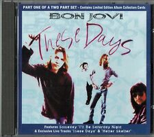 """BON JOVI - 5"""" CD - These Days (4 Track) Limited Edition Collective Cards"""