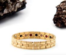 Authentic Pur life Negative Ion Bracelet ELEGANT TITANIUM BRUSHED GOLD BALANCE