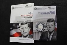SAN MARINO 2013 5 EURO ARGENTO FS PROOF BE PP KENNEDY SILVER COIN