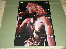 madonna puzzle 10 cartes telephoniques/phone cards pic live( NOT PICTURE DISC)