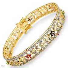 Stunning Bracelet With 0.70ctw Precious Stones !!!