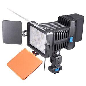 5080 8pcs LED Video Light Lamp Fr Canon Nikon DV Camcorder + NP-F750 Battery Kit