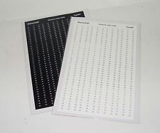 Network UTP Cable label Sticker 80 Pairs - White / Black high quality