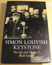 Keystone - The Life and Clowns Of Mack Sennett SIMON LOUVISH Hardcover 1st Ed.