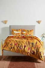 Anthropologie Layne Floral Velvet Queen Quilt
