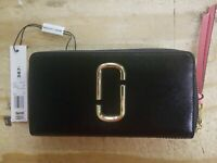 Marc Jacobs Continental Wallet Two Tone, Black / Rose - NWT