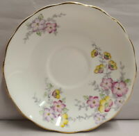 Vintage Colclough China Bone China Saucer c1939-45 Made in England PN 6593
