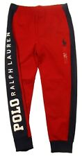Polo Ralph Lauren Men's Red/Navy Logo Graphic Big Pony Double Knit Jogger Pants