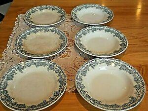 St AMAND Terre de fer Lot de 3 assiettes plates + 3 assiettes creuses ARGENTON
