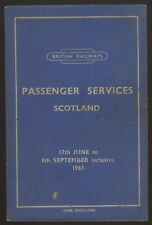 BR PASSENGER SERVICES SCOTLAND TIMETABLE JUNE -SEPT 1963