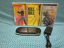 Sony Playstation Portable Psp Psp1001 w/ Game & Kill Bill 1 & 2 Movies ~ Tested