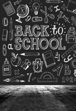 5x7' Black Photo Background Back To School Theme Backdrop Photography Vinyl Prop