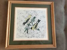 Marnie Dahl Goldfinches Fine Art Print Signed Numbered Batik