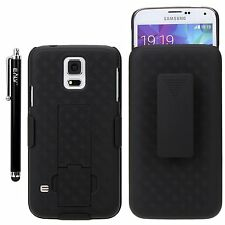 ELV SAMSUNG GALAXY S5 Protection Defender Case W/Belt Swivel Clip Hols