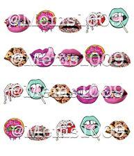 Lip nail Art (water decals) Lips Nail Art Lips Nail Decals