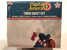 "VINTAGE JAY FRANCO MARVEL CAPTAIN AMERICA TWIN SHEET SET ""NIP"" THE AVENGERS 2002"
