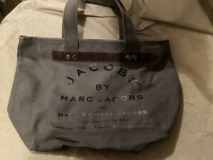 Mark Jacobs Gray Canvas tote with zipper