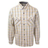 Ascend Men's Classic Yellow Grey L/S Woven Shirt