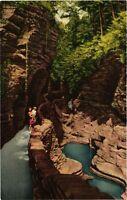 Vintage Postcard - Pot Holes In Watkins Glen State Park New York NY #4624
