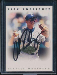 1996 Leaf Signature Series Gold Auto Alex Rodriguez SP /100